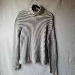 A Knitch Above Pullover Mock Neck Sweater Gray XL